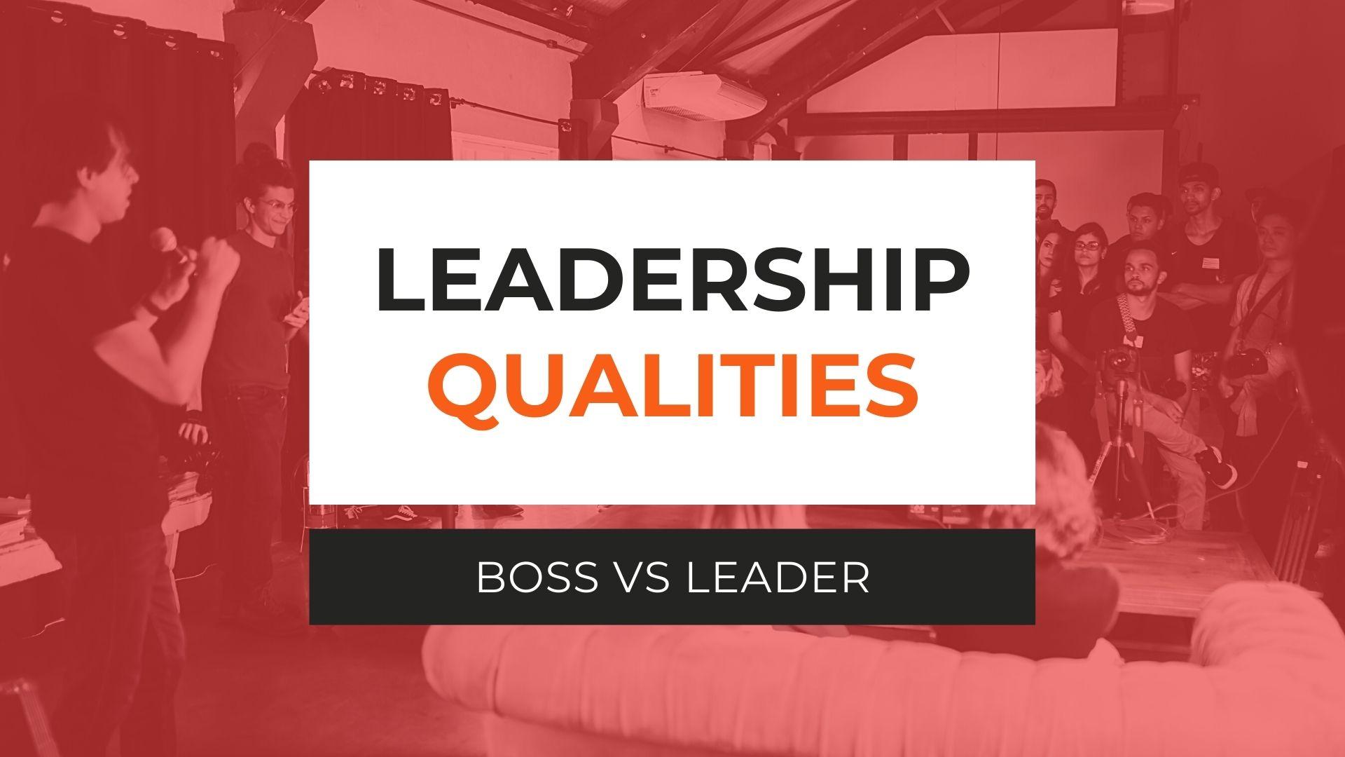 Leadership Qualities Boss vs Leader Course Image GoEdu